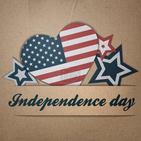 Illustration pour Jour de l'indépendance vectorielle arrière-plan. Version vintage rétro - image libre de droit