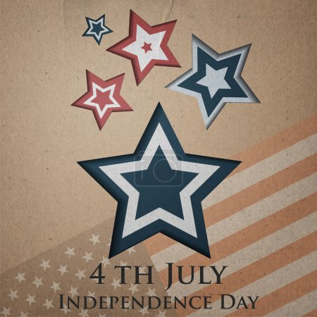 Vector independence day background. Retro vintage version