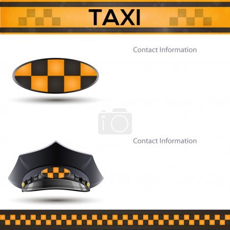 Illustration pour Racing fond orange, taxi modèle de couverture de cabine . - image libre de droit