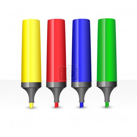Vector illustration of colored markers.