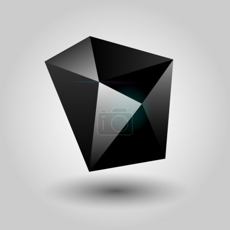 Illustration for Vector black geometric object. - Royalty Free Image