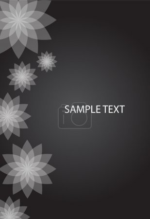Photo pour Fond floral abstrait vectoriel - image libre de droit