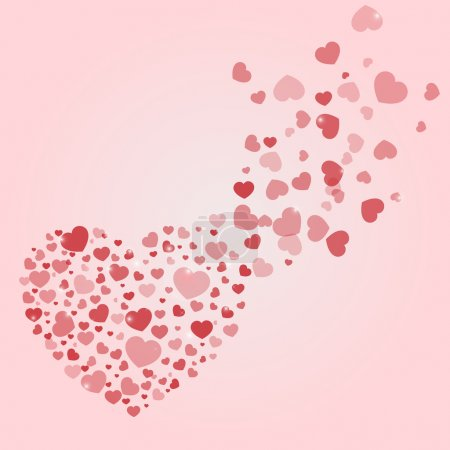 Vector background with hearts.