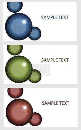 Illustration pour Bannières vectorielles avec bulles colorées . - image libre de droit
