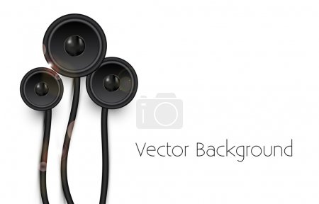 Vector background with speakers.