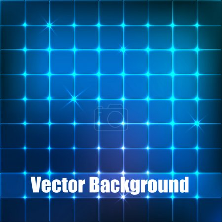 Vector background with blue squares.