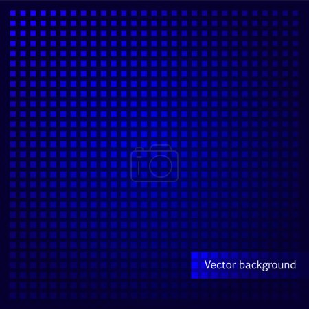 Vector blue background with squares