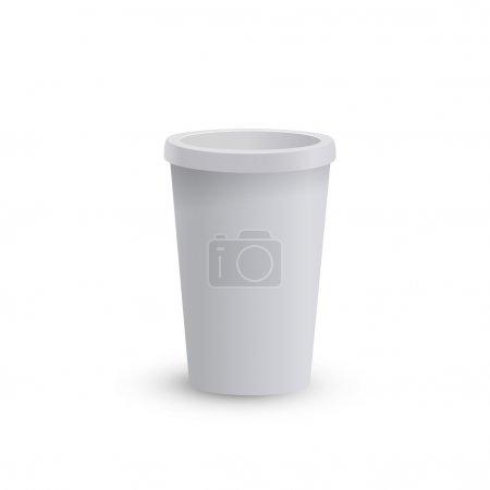 Photo pour Tasse à café en carton vide - image libre de droit
