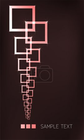 Vector background with squares.