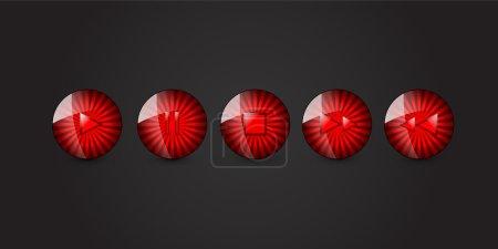 Illustration pour Ensemble vectoriel de boutons multimédias - image libre de droit