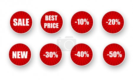 Vector set of sale labels.