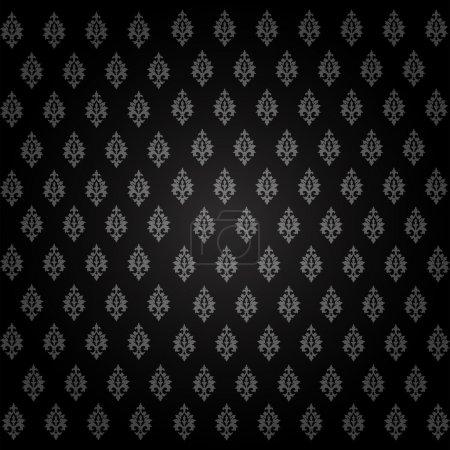 Illustration pour Damas motif floral sans couture. Illustration vectorielle vintage . - image libre de droit