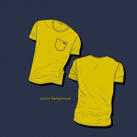 Illustration pour Modèle de conception de t-shirt pour homme . - image libre de droit