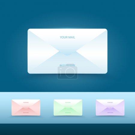 Ensemble d'icônes de messagerie vectorielle