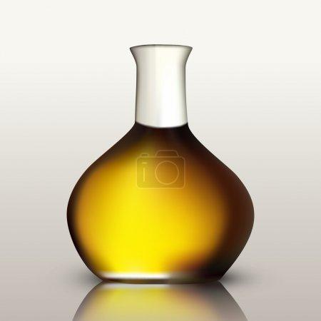 Illustration pour Bouteille d'huile dorée. Illustration vectorielle - image libre de droit