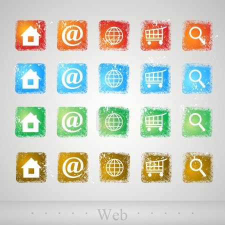 Vector set of web buttons.