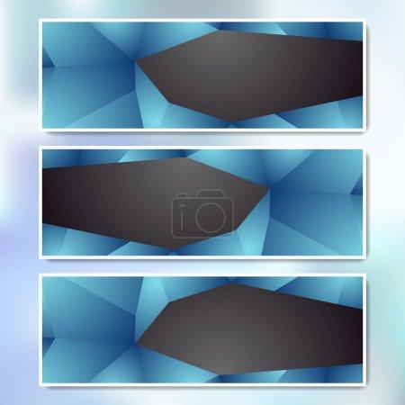 Illustration pour Ensemble vectoriel de bannières Web - image libre de droit