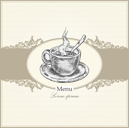 Vintage menu for restaurant, cafe, bar, coffeehouse