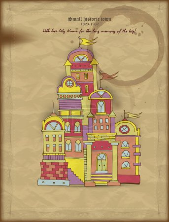 Small historic town illustration