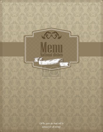 Restaurant menu design. National dishes. Vector illustration