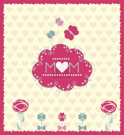 Festive card for Mother's day. Vector illustration