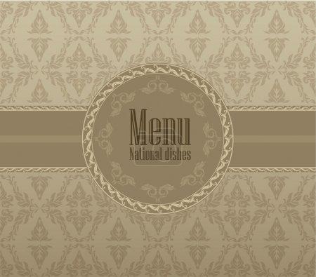 Restaurant menu design. National dishes. Vector illustration