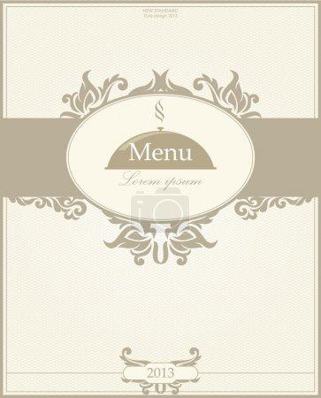 Illustration pour Menu restaurant design. Illustration vectorielle - image libre de droit
