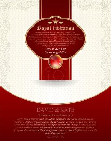 Illustration pour Invitation royale illustration vectorielle - image libre de droit