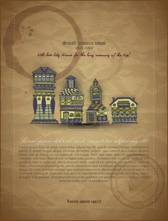Cartoon castle towers vector illustration