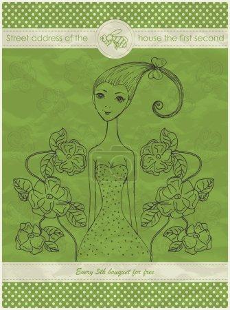 Illustration for Vector flower shop banner - Royalty Free Image
