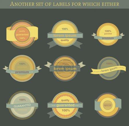 Etiquetas e insignias de vectores retro