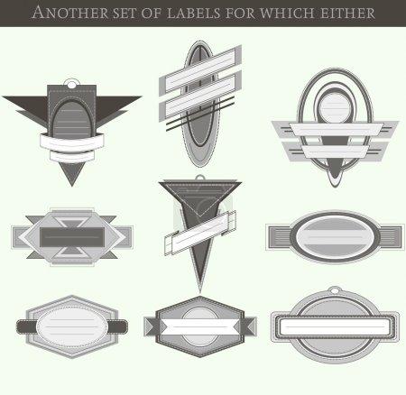 Illustration for Set of shop labels - Royalty Free Image