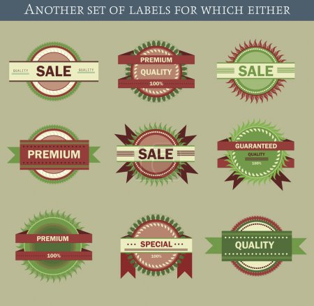 Illustration for Retro vector labels and badges - Royalty Free Image