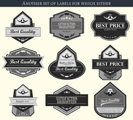 Illustration pour Étiquettes et badges vectoriels rétro - image libre de droit