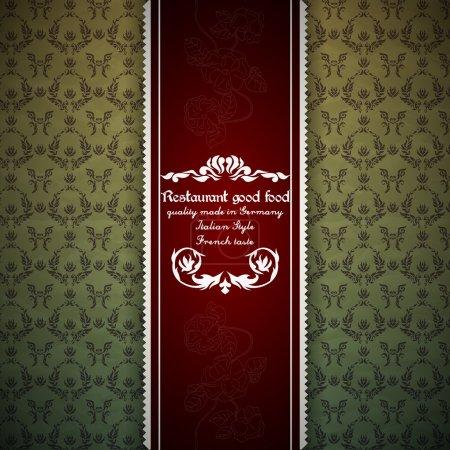 Illustration pour Carte de conception de menu restaurant - image libre de droit