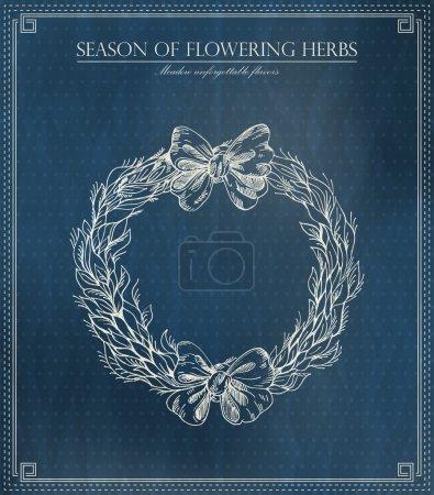 Illustration pour Saison de floraison des herbes. Illustration vectorielle - image libre de droit