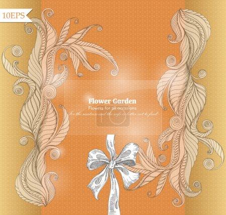 Illustration pour Conception de fond vectoriel floral - image libre de droit