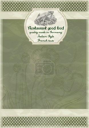 Illustration pour Menu restaurant design dans un style rétro - image libre de droit