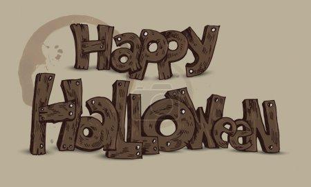 Illustration pour Joyeux Halloween. Illustration vectorielle - image libre de droit