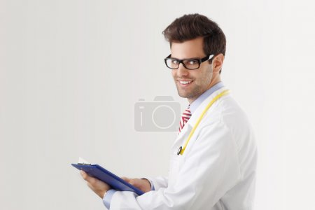 Close-up of a male doctor smiling