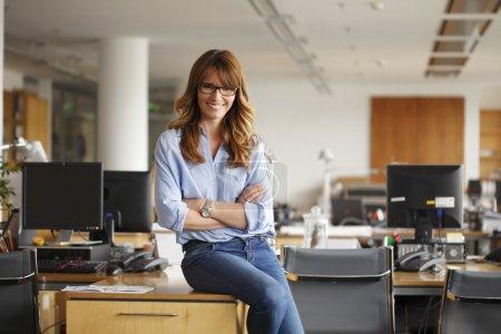 Smiling professional businesswoman