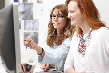 Graphic designer women in office