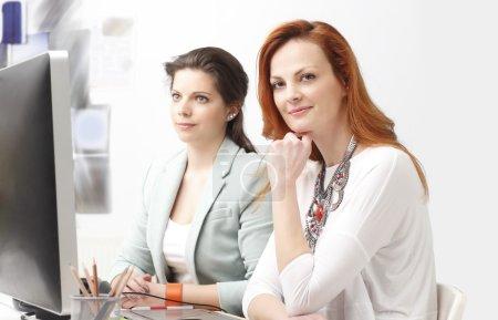 Modern graphic designer women