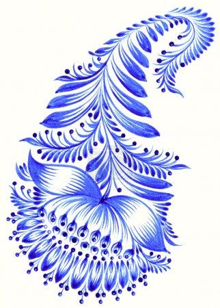 Photo for High resolution, hand drawn illustration in Ukrainian folk style - Royalty Free Image