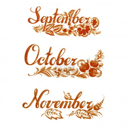 Set name of the month autumn