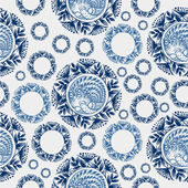 Coloured seamless pattern with motive of flower