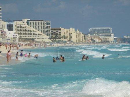 Carribean sea in Cancun, Mexico