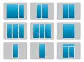 Types of plastic (PVC) Windowseps10