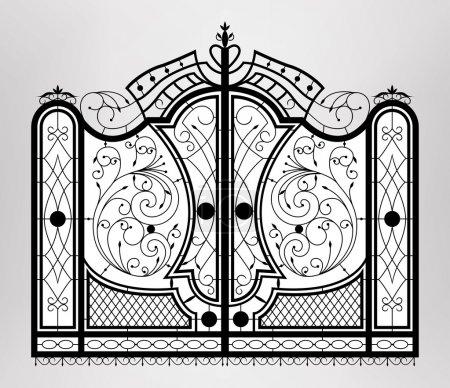 Illustration pour Porte forgée. Vecteur EPS10 . - image libre de droit