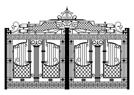 Illustration pour Porte forgée. Détail d'architecture. Vecteur EPS10 . - image libre de droit